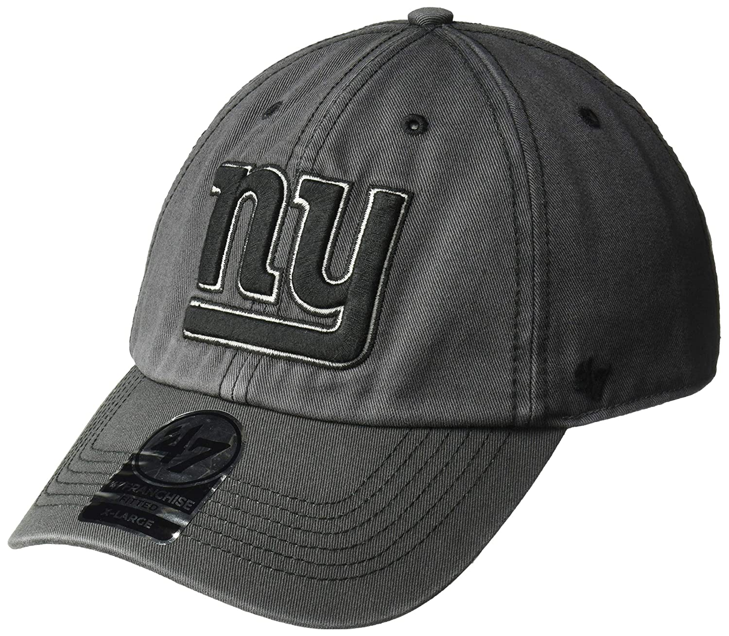 c73f6d4fb8e8ca Amazon.com : '47 NFL New York Giants Sachem Franchise Fitted Hat, Medium,  Charcoal : Sports & Outdoors