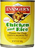 EVANGER'S Classic Chicken and Rice Dinner for Dogs, 12 pack, 13-Ounce Cans