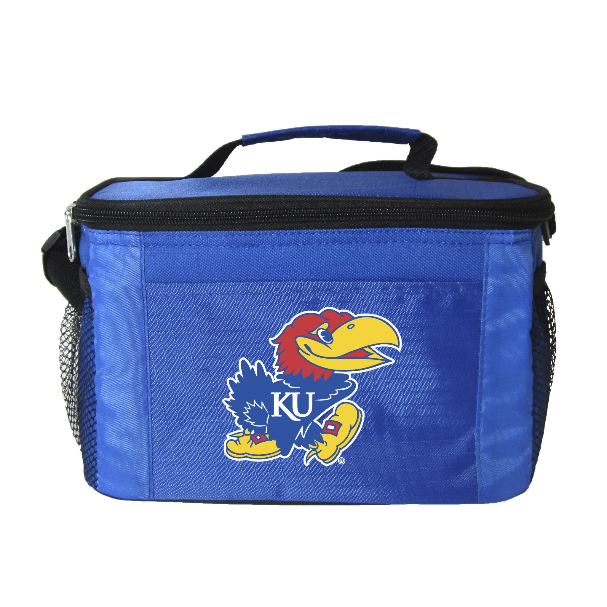 NCAA Kansas Jayhawks Team Logo 6 Can Cooler Bag or Lunch Box - Blue
