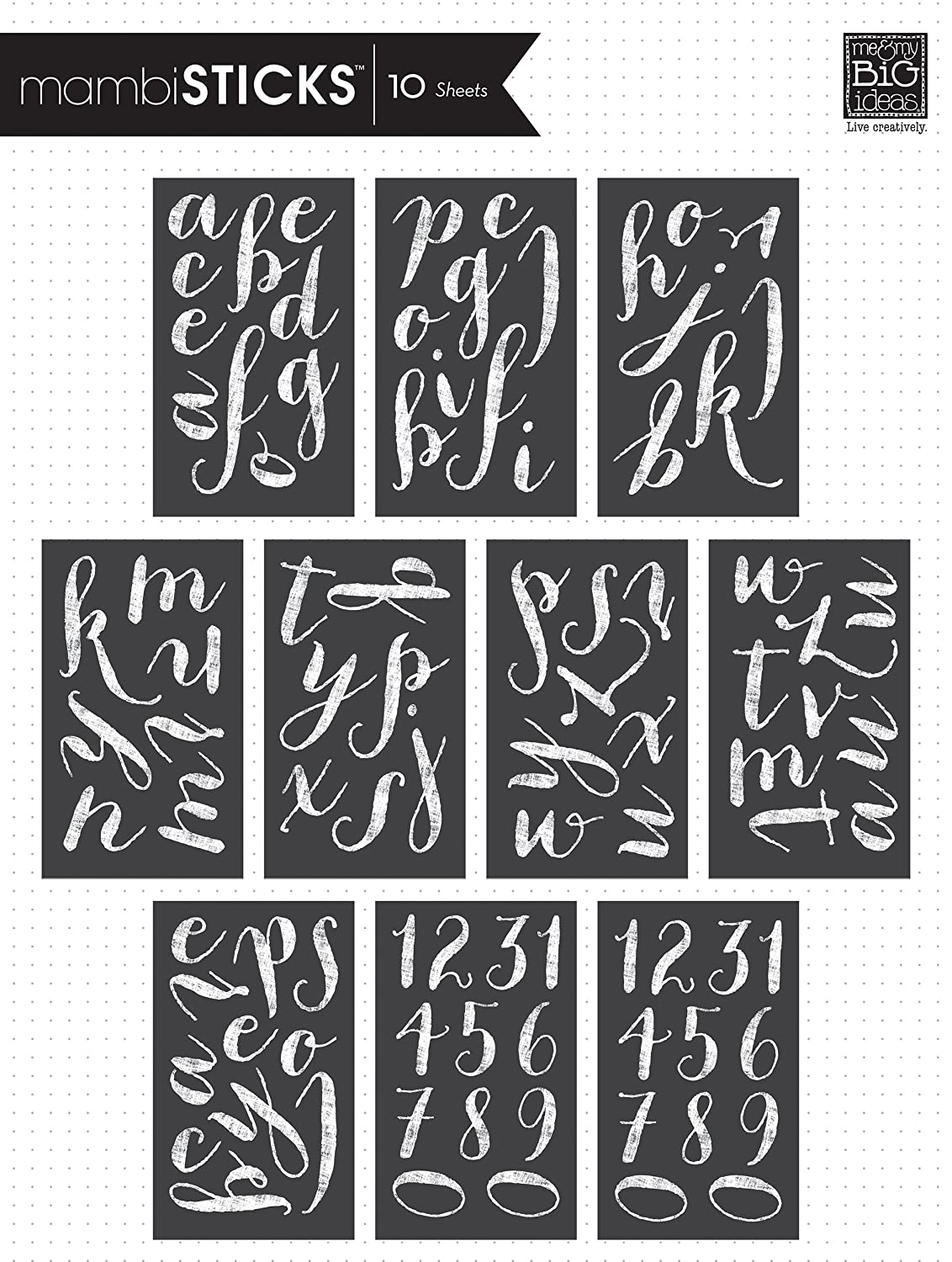 Me and My BIG Ideas STL-35 Script Chalk Alphabet Stickers, White, Large