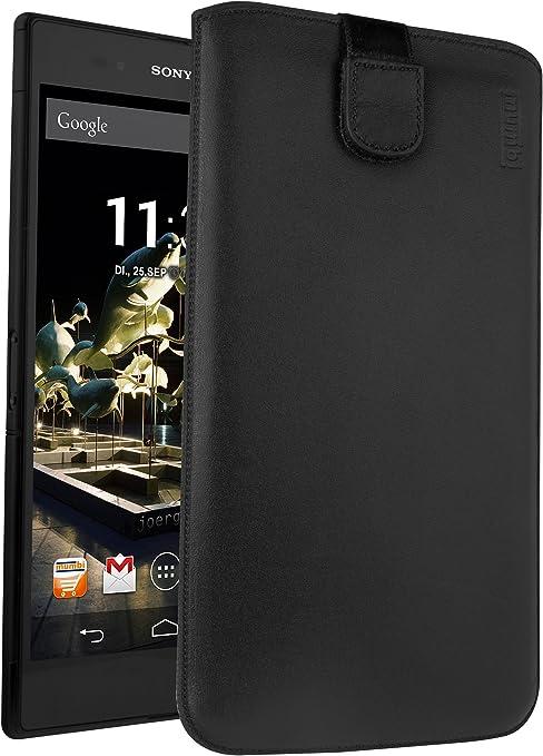 Mumbi Echt Ledertasche Kompatibel Mit Sony Xperia Z Elektronik