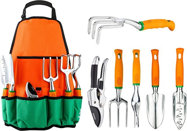 Amazon Com Ukoke Garden Tool Set 7 Piece Aluminum Hand Tool Kit