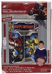 Transformers Scene Setters Wall Decorating Kit, Birthday