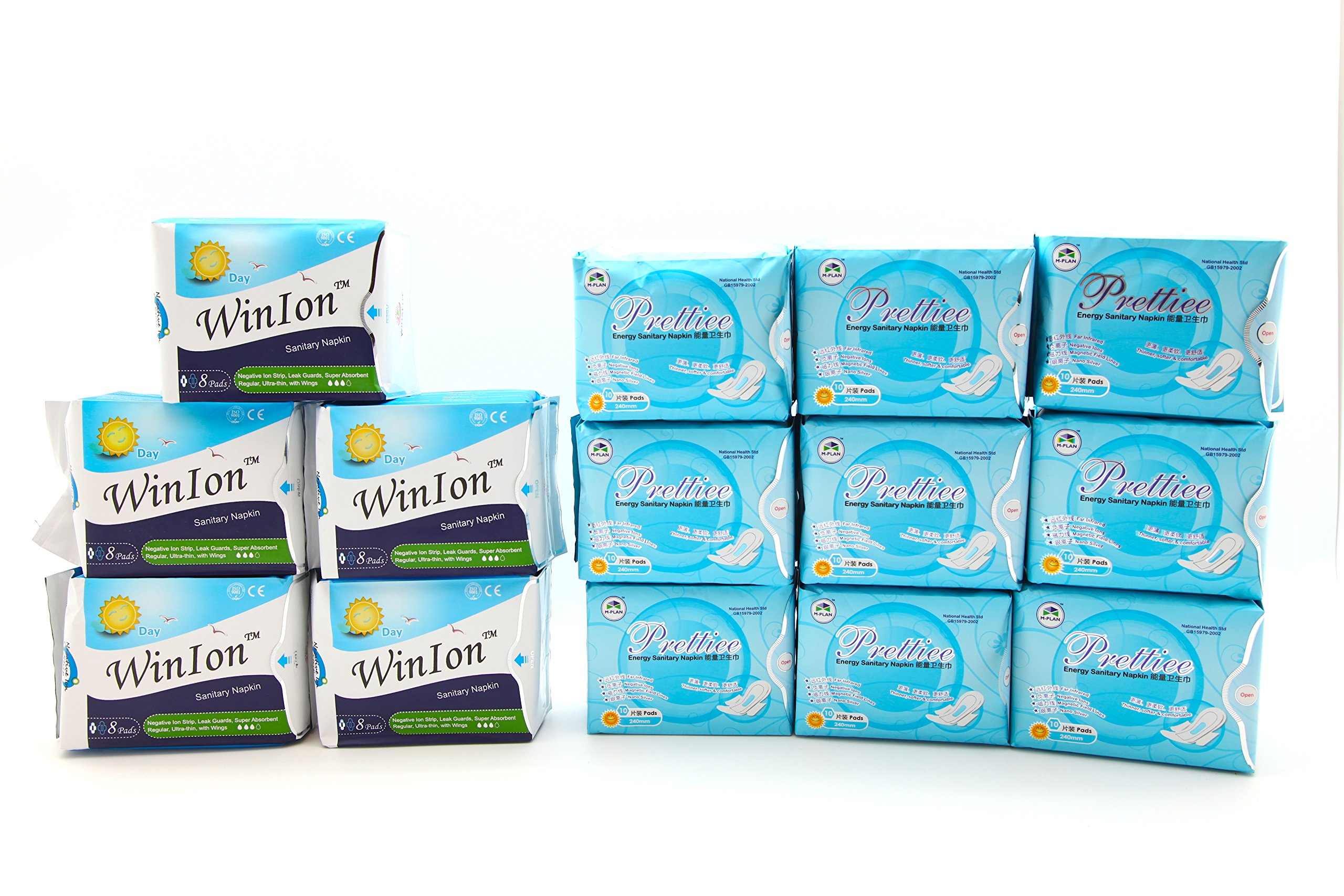 5 packs Winion Day + 9 packs Prettiee Energy Sanitary Day Napkin by Prettiee (Image #1)