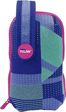 MILAN Kit Un Estuche Con Contenido Knit, Lila Estuches, 19 cm, Lila y verde: Amazon.es: Ropa y accesorios