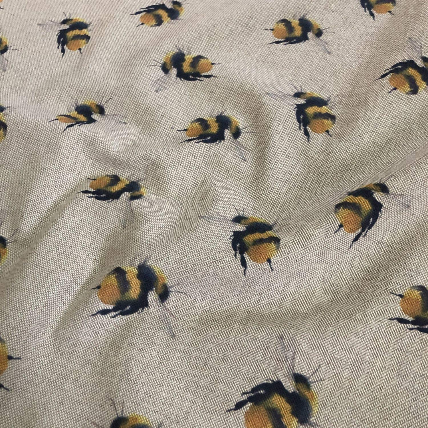 Bees Linen Curtain//Craft//upholstery Fabric 140cm wide