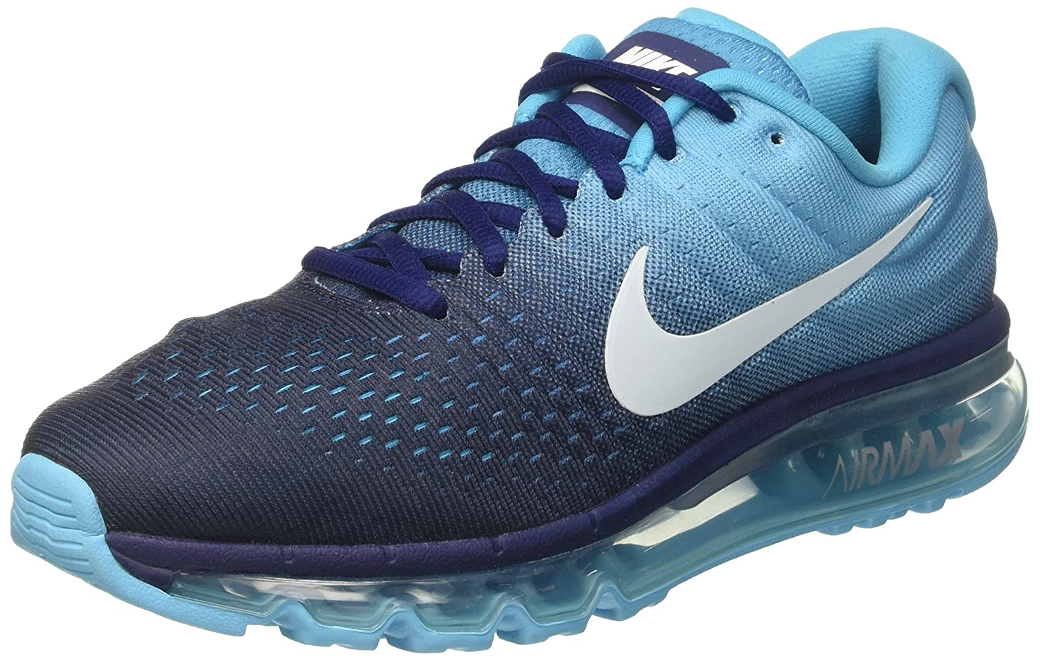 sports shoes a16fd 357bf Nike Men s Air Max 2017 Running Shoes, Turquoise (Binary Glacier Chlorine  Blue), 7 UK  Amazon.co.uk  Sports   Outdoors