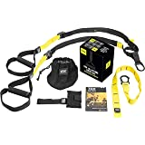TRX Training – Suspension Trainer Basic Kit + Door Anchor, Complete Full Body Workouts Kit Home on the Road