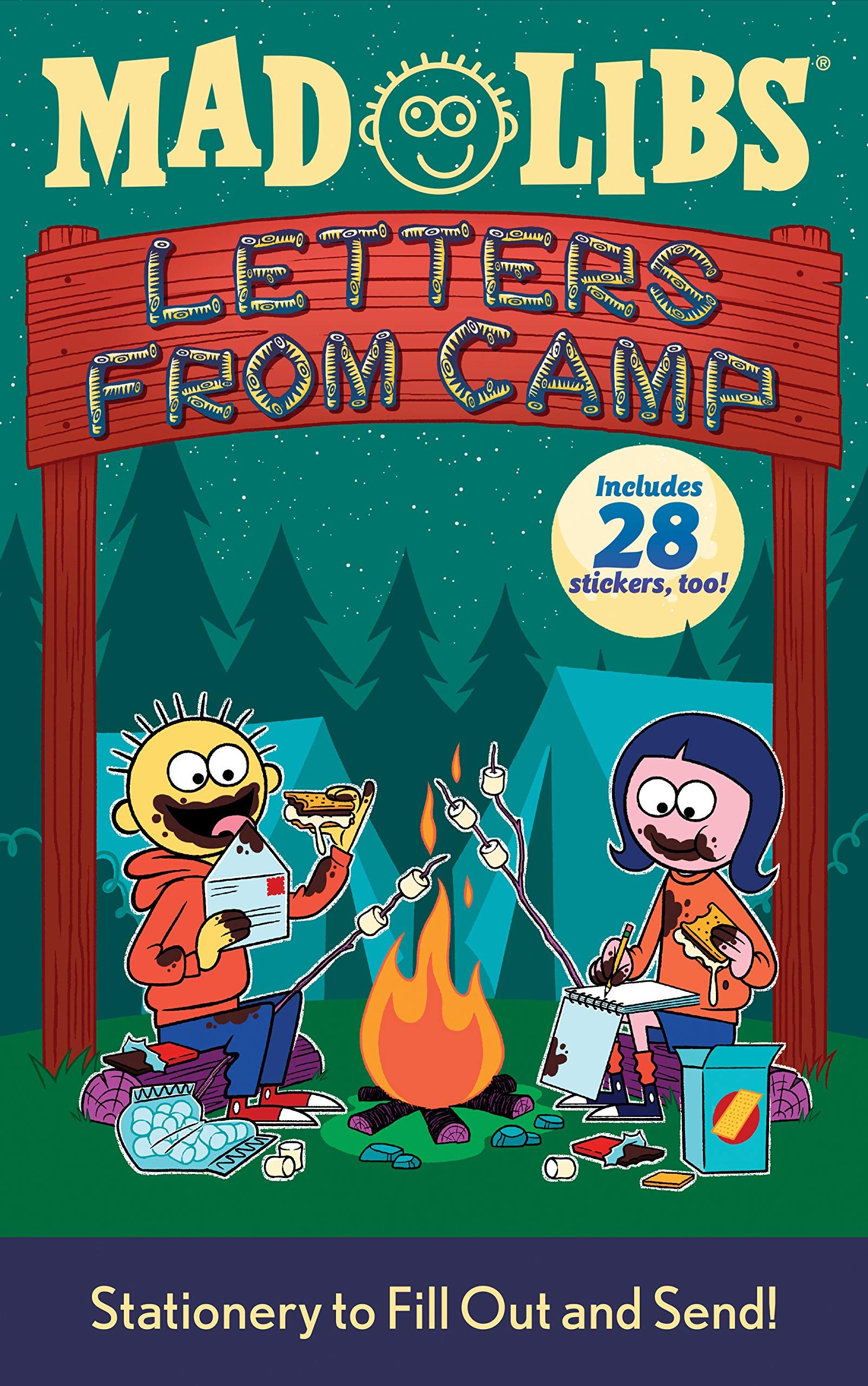 photo about Printable Fill in the Blank Camp Letters called Letters towards Camp Crazy Libs: Stationery towards Fill Out and Ship