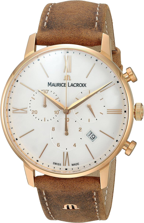 Maurice Lacroix Reloj analógico para Hombre de con Correa en Cuero EL1098-PVP01-113-1