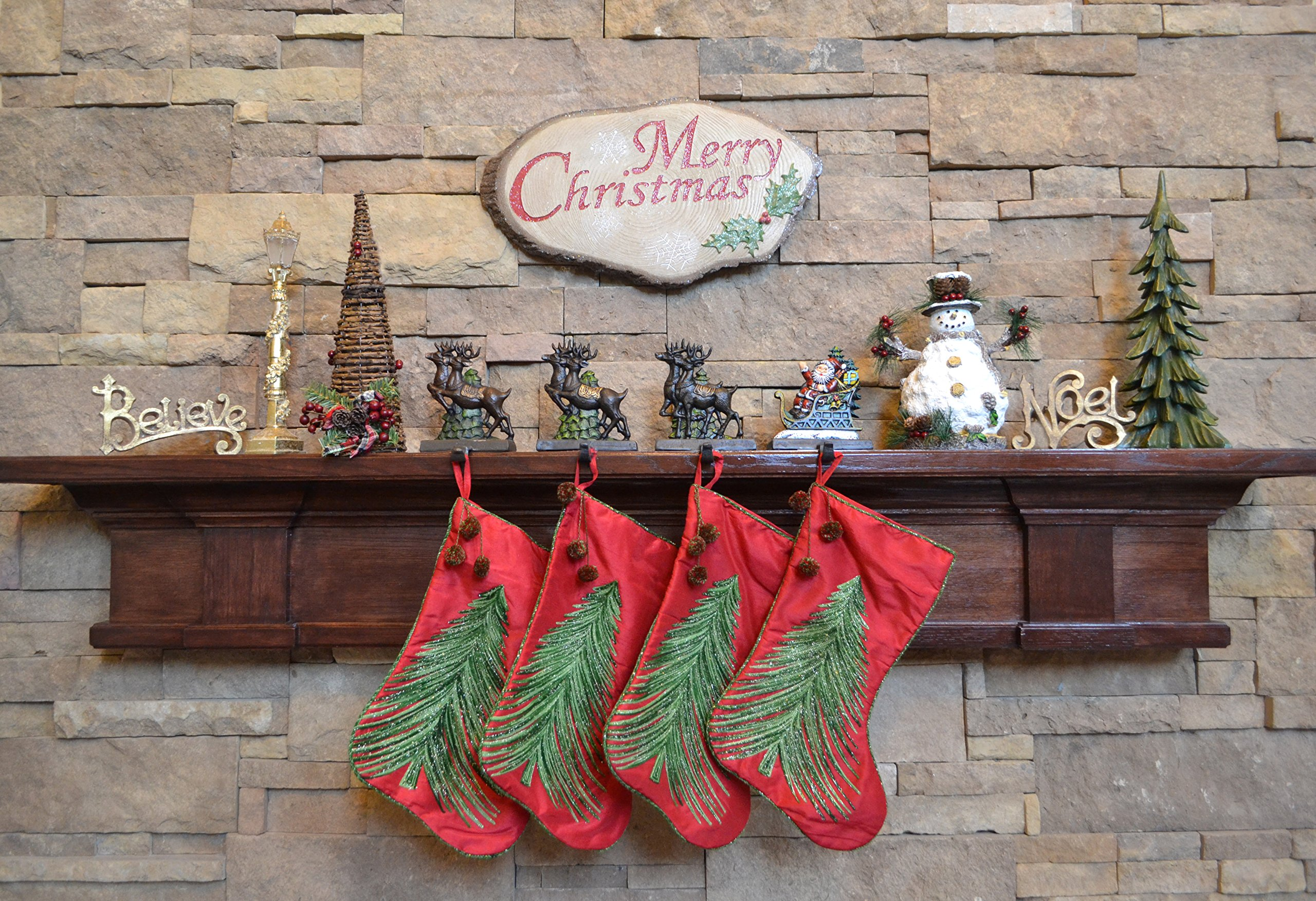 Lulu Decor, Cast Iron Santa Claus & 3 Reindeer Stocking Holders, Solid, Beautiful, Available in Holiday Colors, Measures 7.75''x5.5'', Set of 4, Perfect for holiday gifts/Christmas gifts(4 Hooks) by LuLu (Image #3)