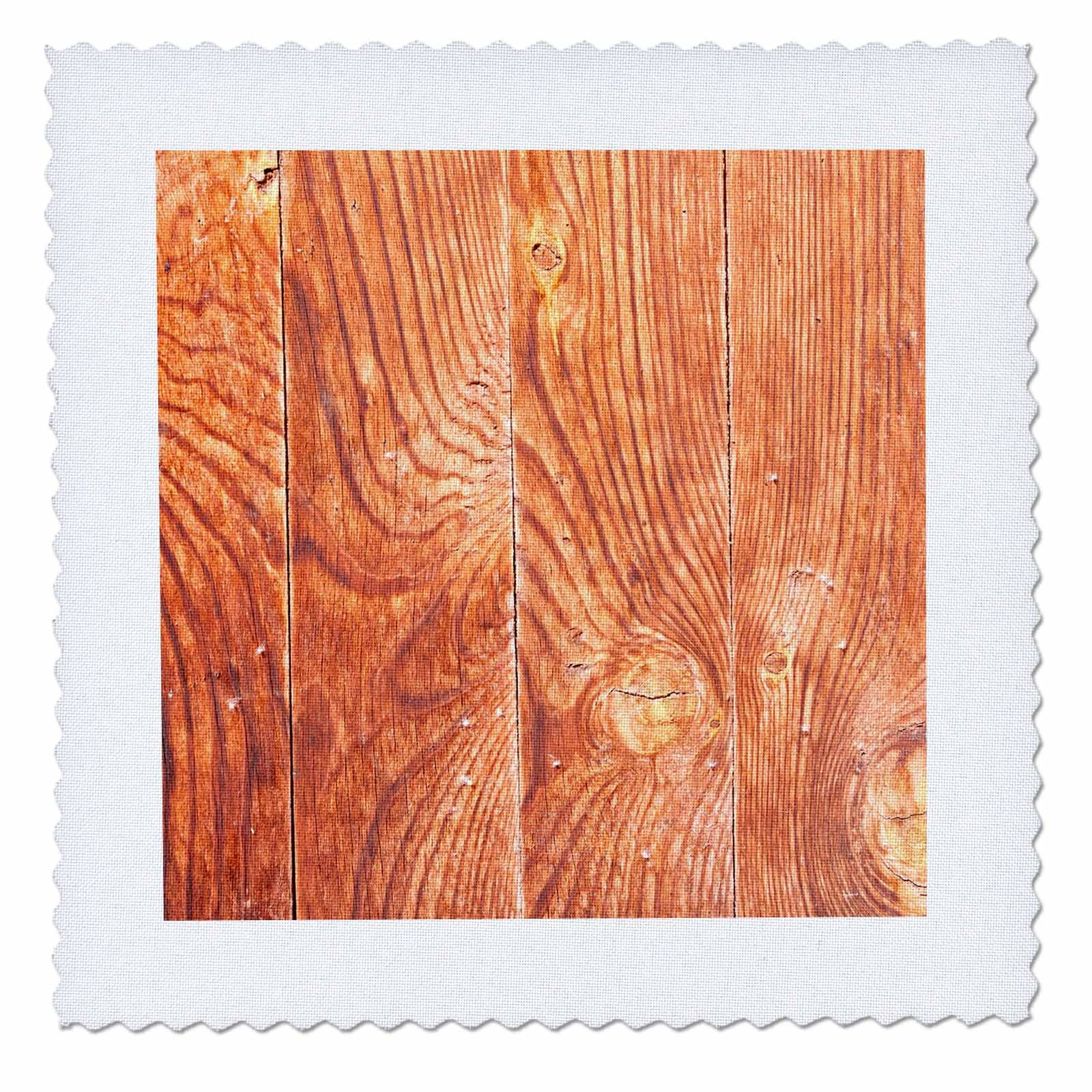 3dRose Alexis Photography - Texture Wood - Old weathered wooden planks of brown color - 16x16 inch quilt square (qs_273699_6) by 3dRose (Image #1)