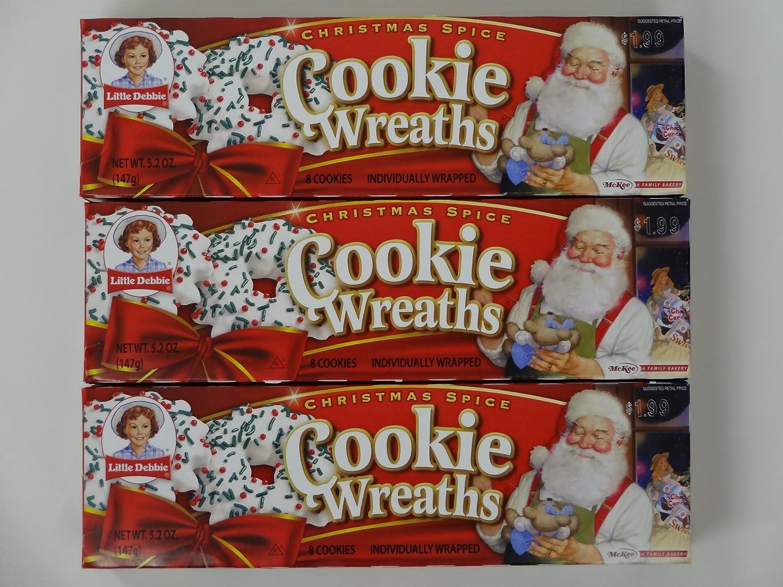 Amazon Com Little Debbie Christmas Spice Cookie Wreaths 3 Boxes 24