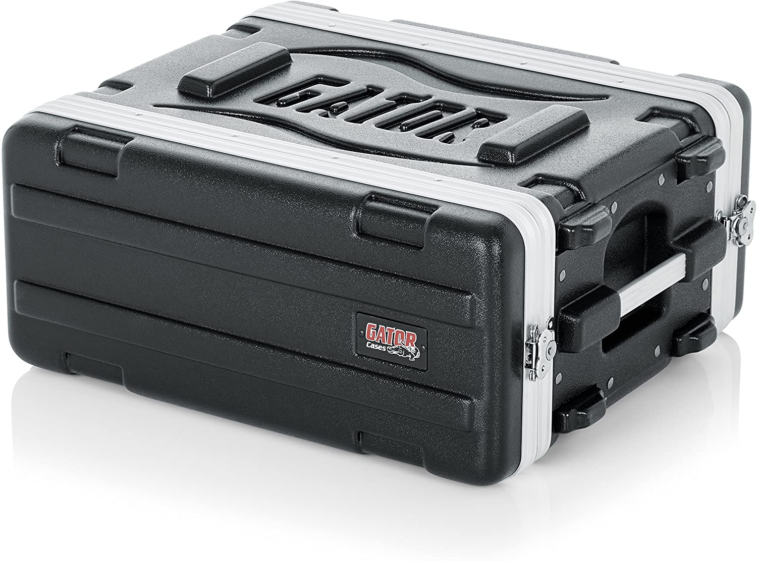 "Gator Cases Lightweight Molded 4U Rack Case with Heavy Duty Latches; Shallow 14.25"" depth, 4U (GR-4S)"
