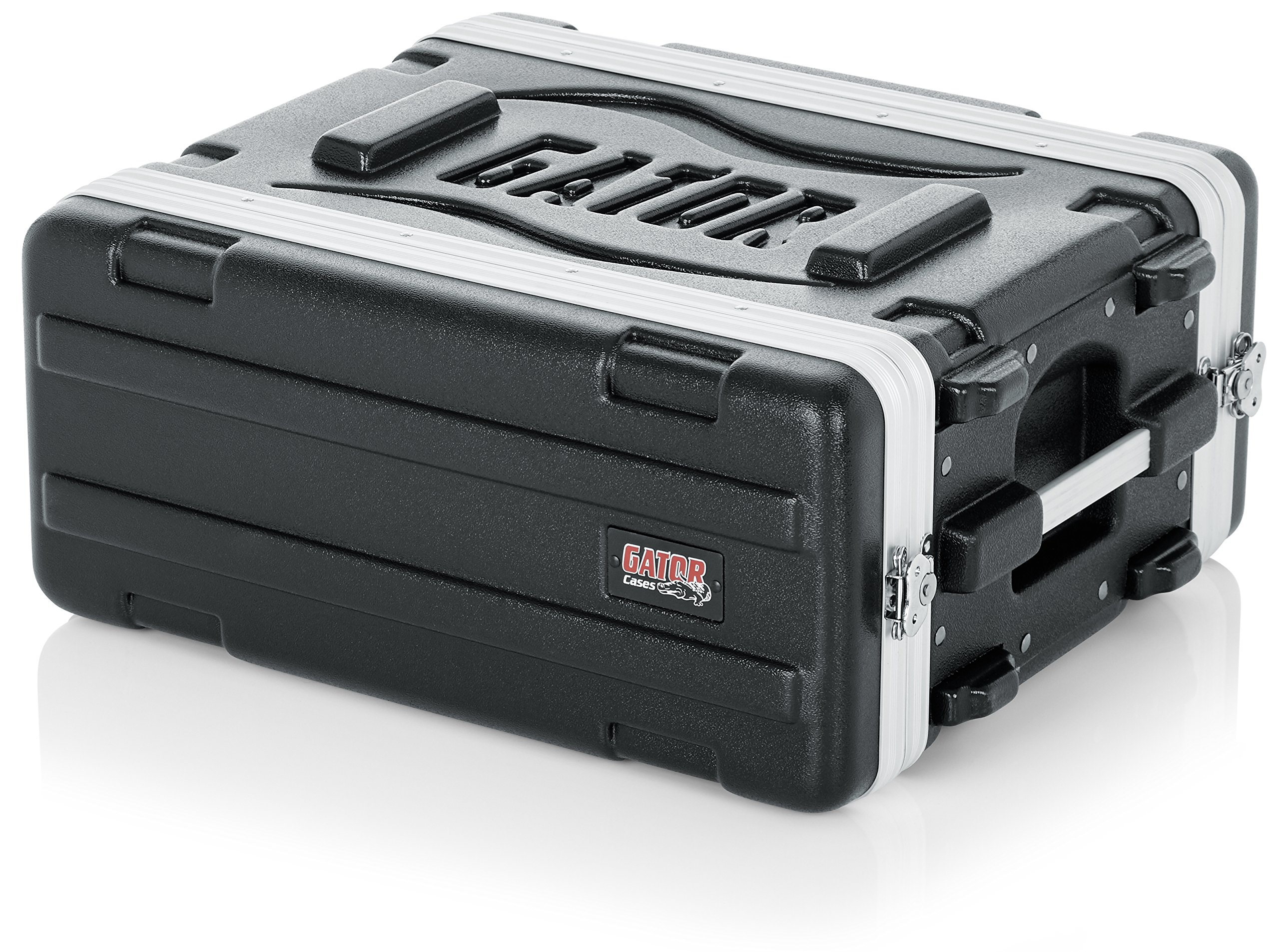 Gator Cases Lightweight Molded 4U Rack Case with Heavy Duty Latches; Shallow 14.25'' depth, 4U (GR-4S) by Gator