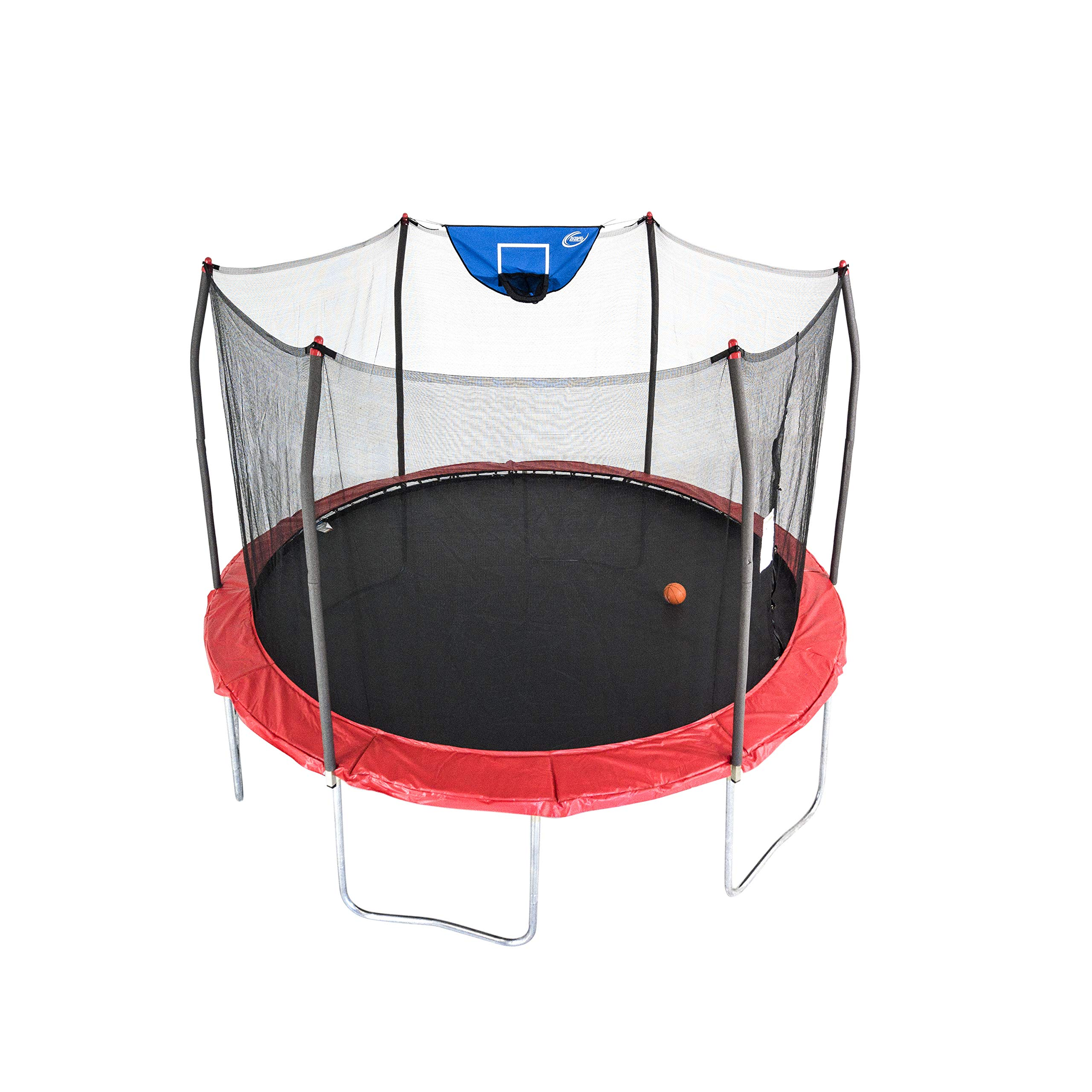 Skywalker Trampolines 12-Foot Jump N' Dunk Trampoline with Enclosure Net - Basketball Trampoline by Skywalker Trampolines