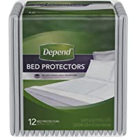 Depend Incontinence Bed Protectors Overnight Absorbency Disposable Underpad, 12 Count