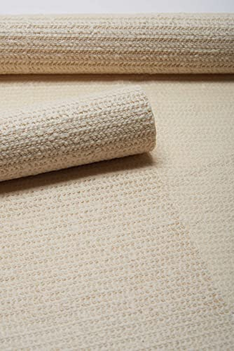 Nourison Shiftloc Pad Ivory Rectangle Area Rug, 7-Feet 6-Inches by 10-Feet 8-Inches 7 6 x 10 8