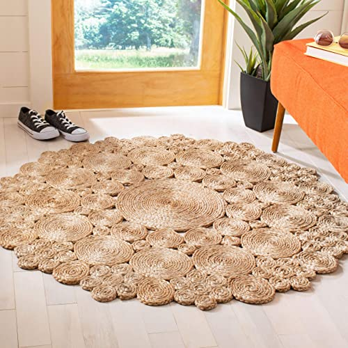 Safavieh Natural Fiber Round Collection Hand-Woven Jute Area Rug