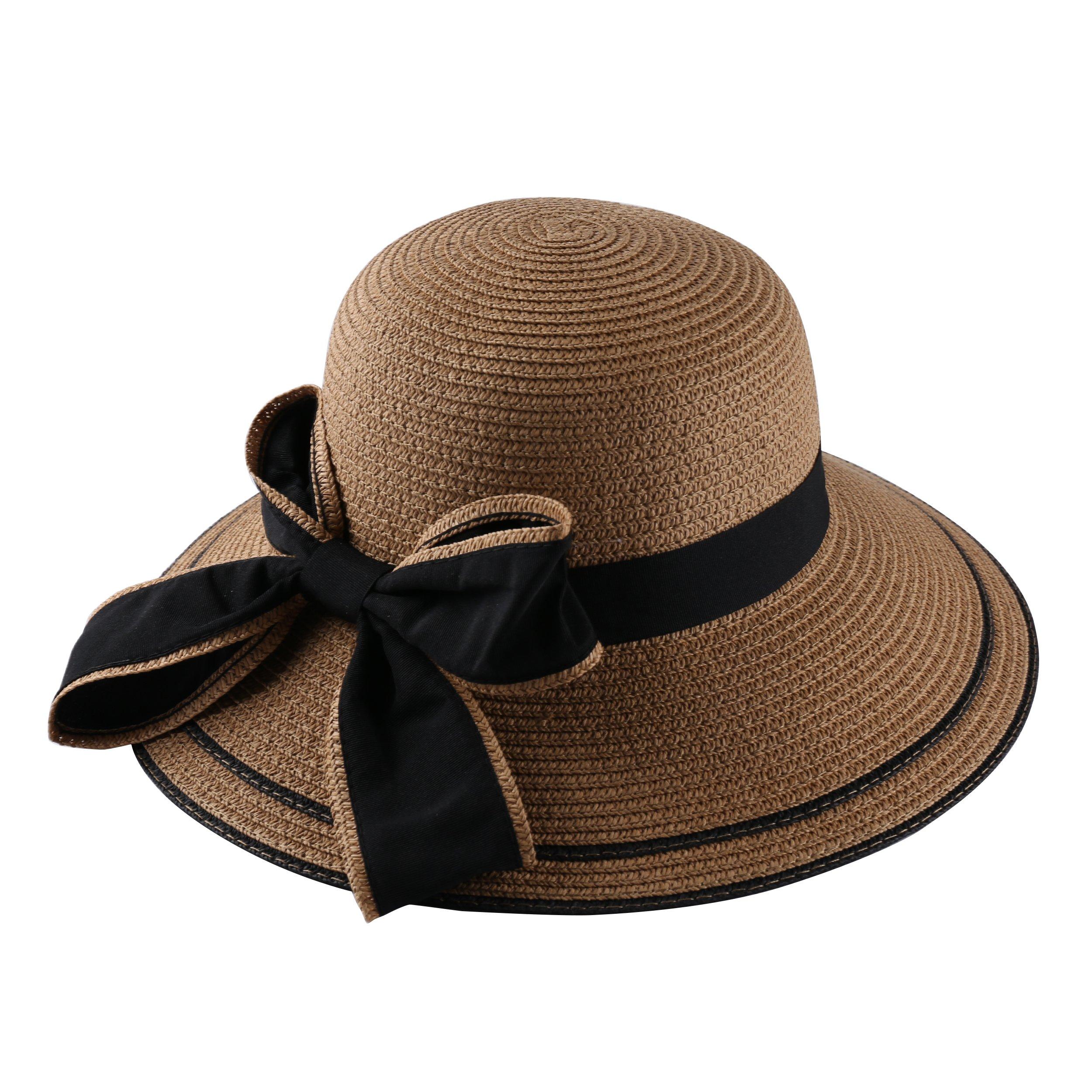 Aerusi Women's Most Milan Bucket Year Round Straw Hat, Tan, One Size