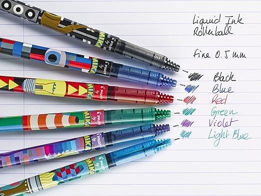 Pilot V5 Mika Edition Limited - Lote de 6 bolígrafos de tinta ...