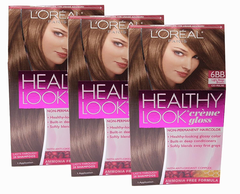 Amazon Loreal Healthy Look Hair Dye Creme Gloss Color 6bb 1