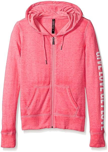 Betsey Johnson de la mujer dar Get Love Logo chaqueta - Rosado - : Amazon.es: Ropa y accesorios
