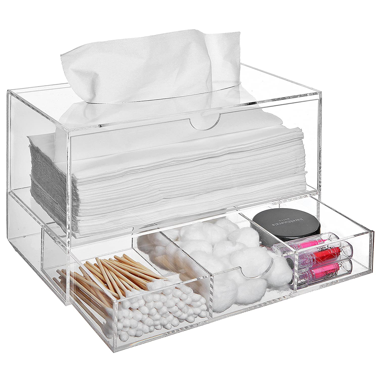 Amazoncom Modern Clear Acrylic Countertop Pull Out Storage - Cosmetic organizer countertop