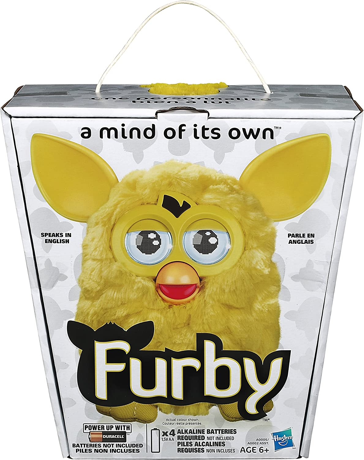 """Furby Small 2/"""" PVC Vinyl Yellow White Keychain New Old Stock Figure Toy NOW"""