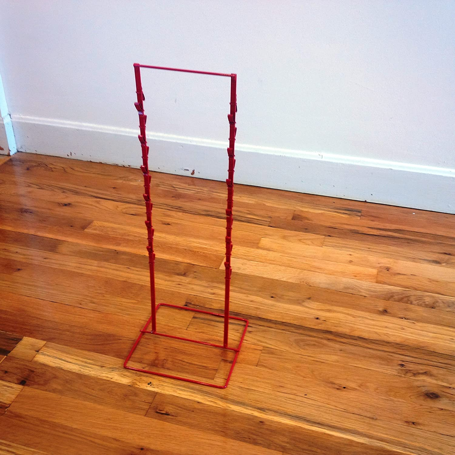 Double Round Strip Display Rack in Red - 22 H x 8.5 W x 8 D Inches