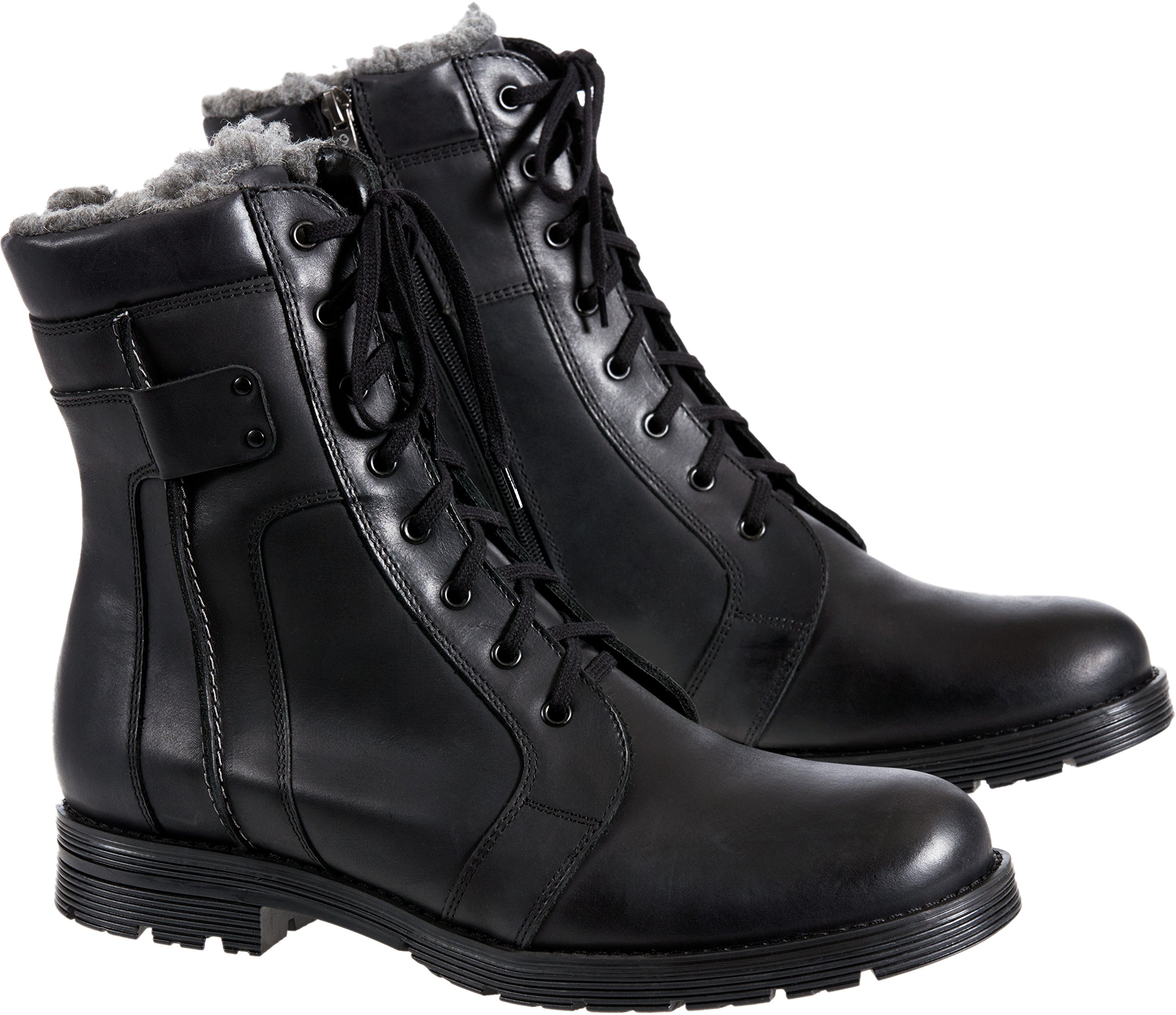 Men's Overland Renegade Wool-Lined Leather Boots, Black Oil 3, Size EU45