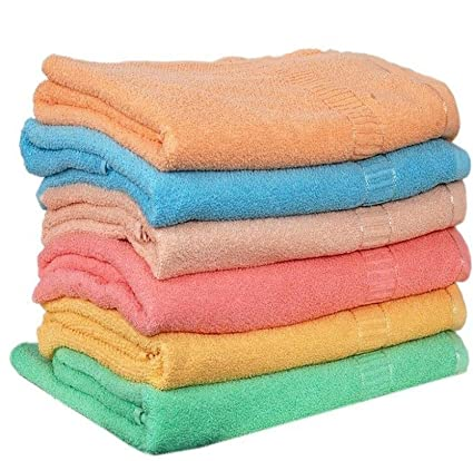 Milap Cotton Hand Towels, 14x21 Inches(Multicolour, Milap123) - Set of 6