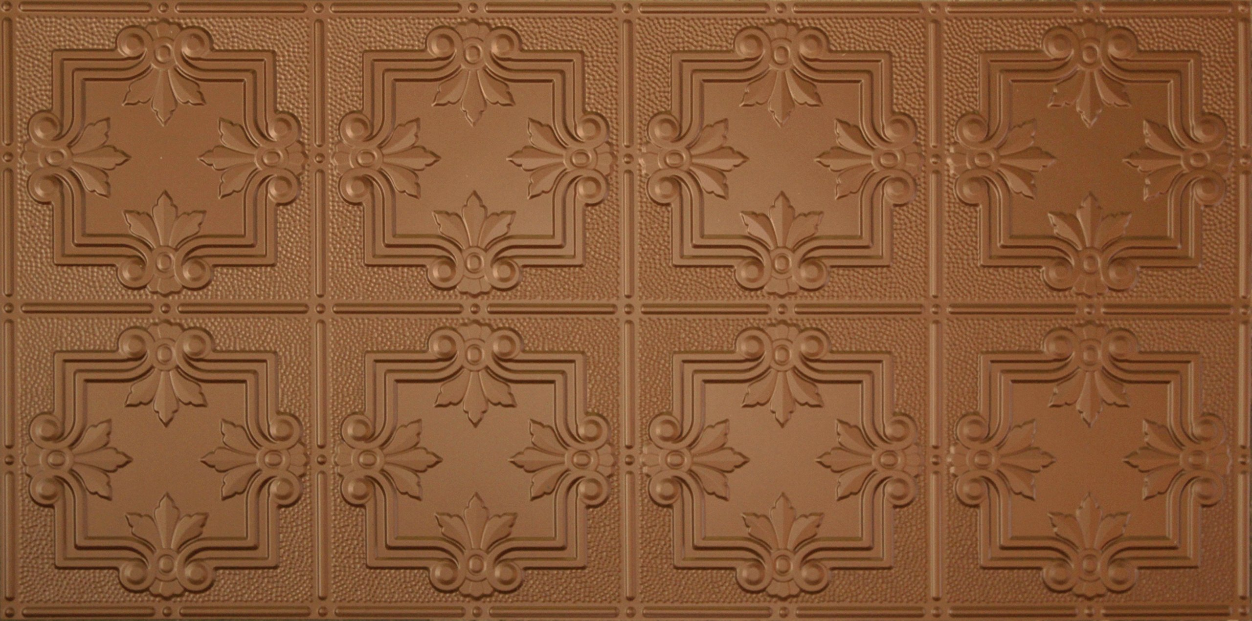 Global Specialty Products Pattern No.321 Tin Style Panel, 2 by 4-Feet, Aged Copper