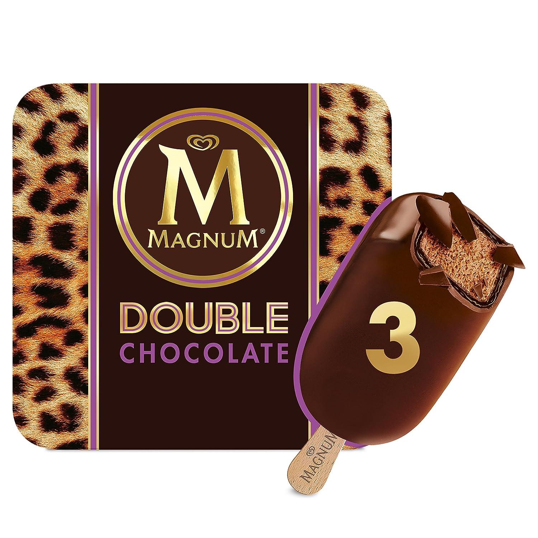 Magnum Doble Chocolate Helado Bombón - Paquete de 3 x 88 ml: Amazon.es: Alimentación y bebidas