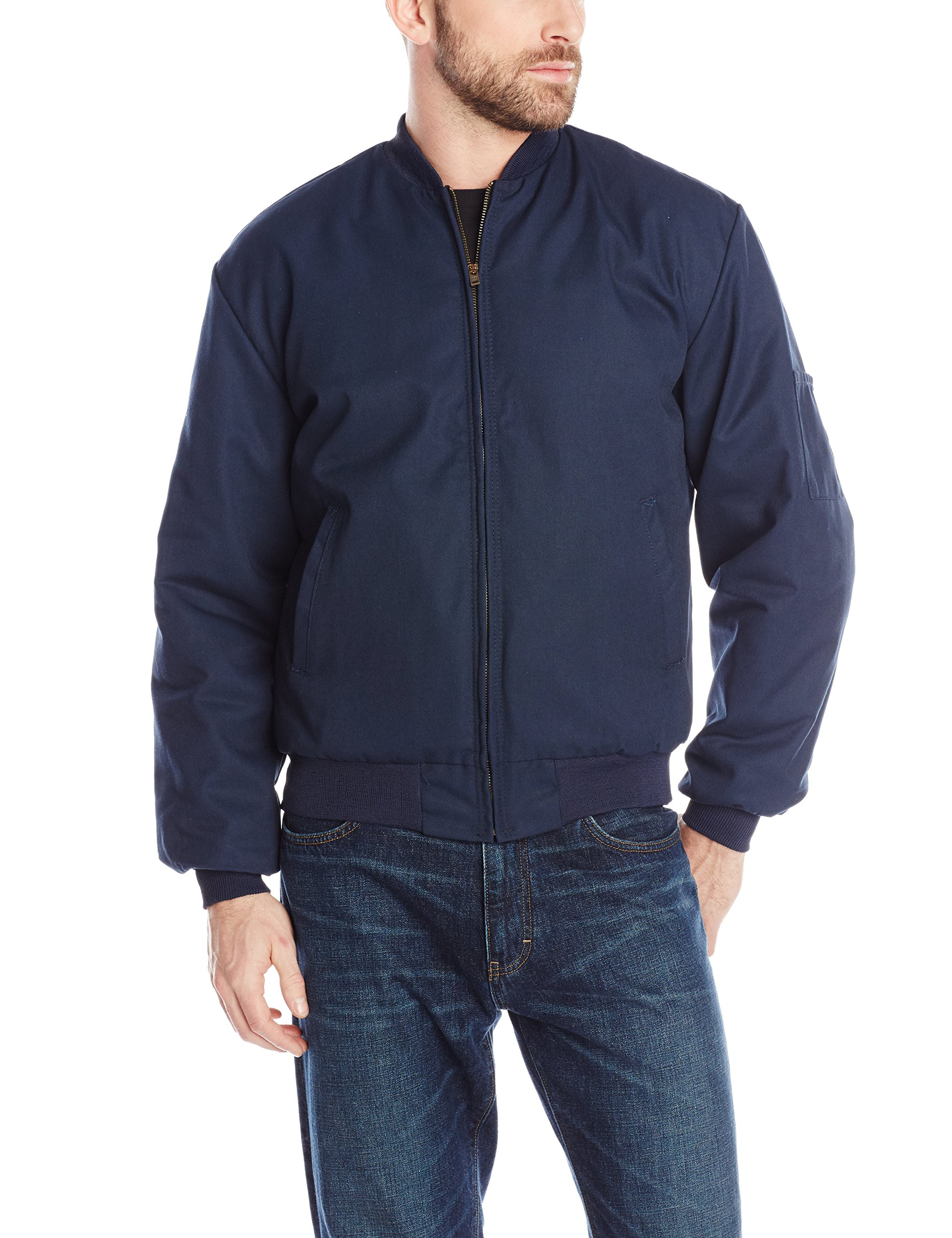 Red Kap Men's Solid Team Jacket, Navy, Large by Red Kap
