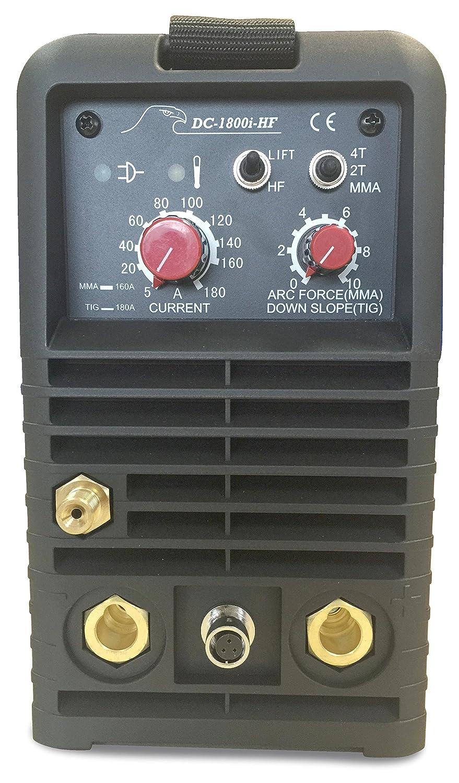 DC-1800i-HF Equipo de Soldadura DC Electrodos y Tig HF: Amazon.es: Bricolaje y herramientas