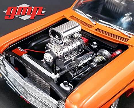 1968 Chevrolet Nova 1320 Drag King S Blown 572 Engine And Transmission Replica 1 18 By Gmp 18875