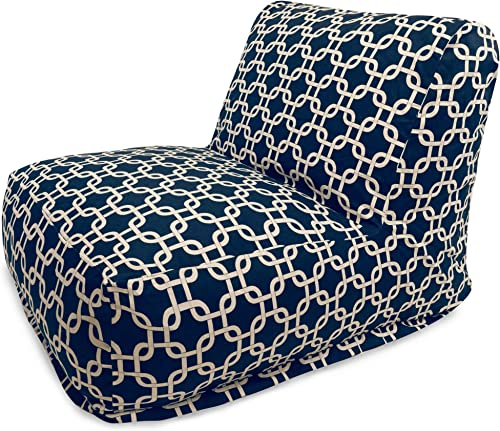 Majestic Home Goods Navy Blue Links Bean Bag Chair Lounger