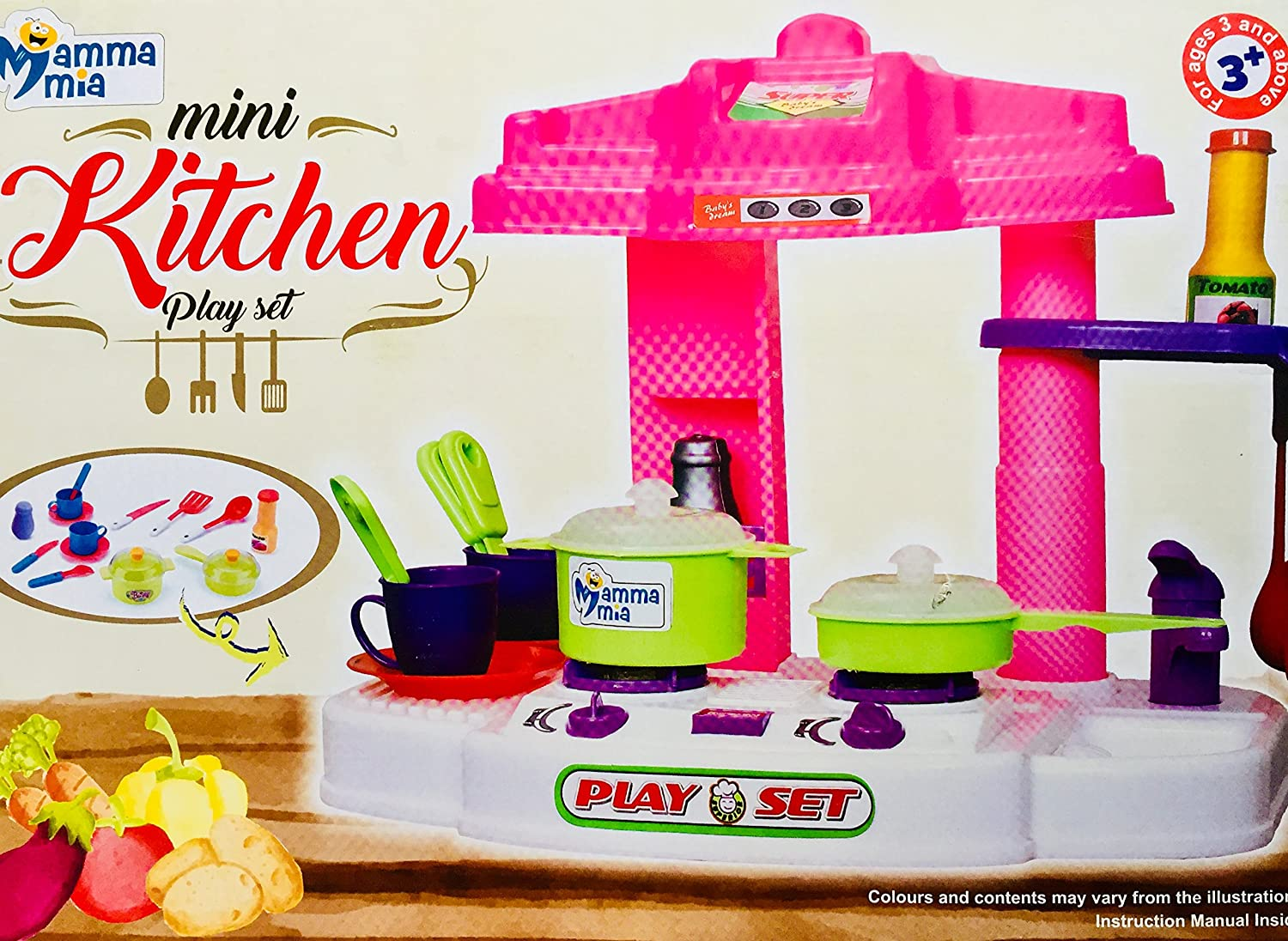 0a08e8fbf Buy Go Acacia-Mini Kitchen Play Set-3+Kids and Above- Online at Low Prices  in India - Amazon.in