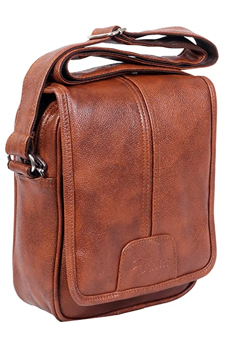 04ce5ac06fdc Easies Tan Leather Men s Sling Bag  Amazon.in  Bags