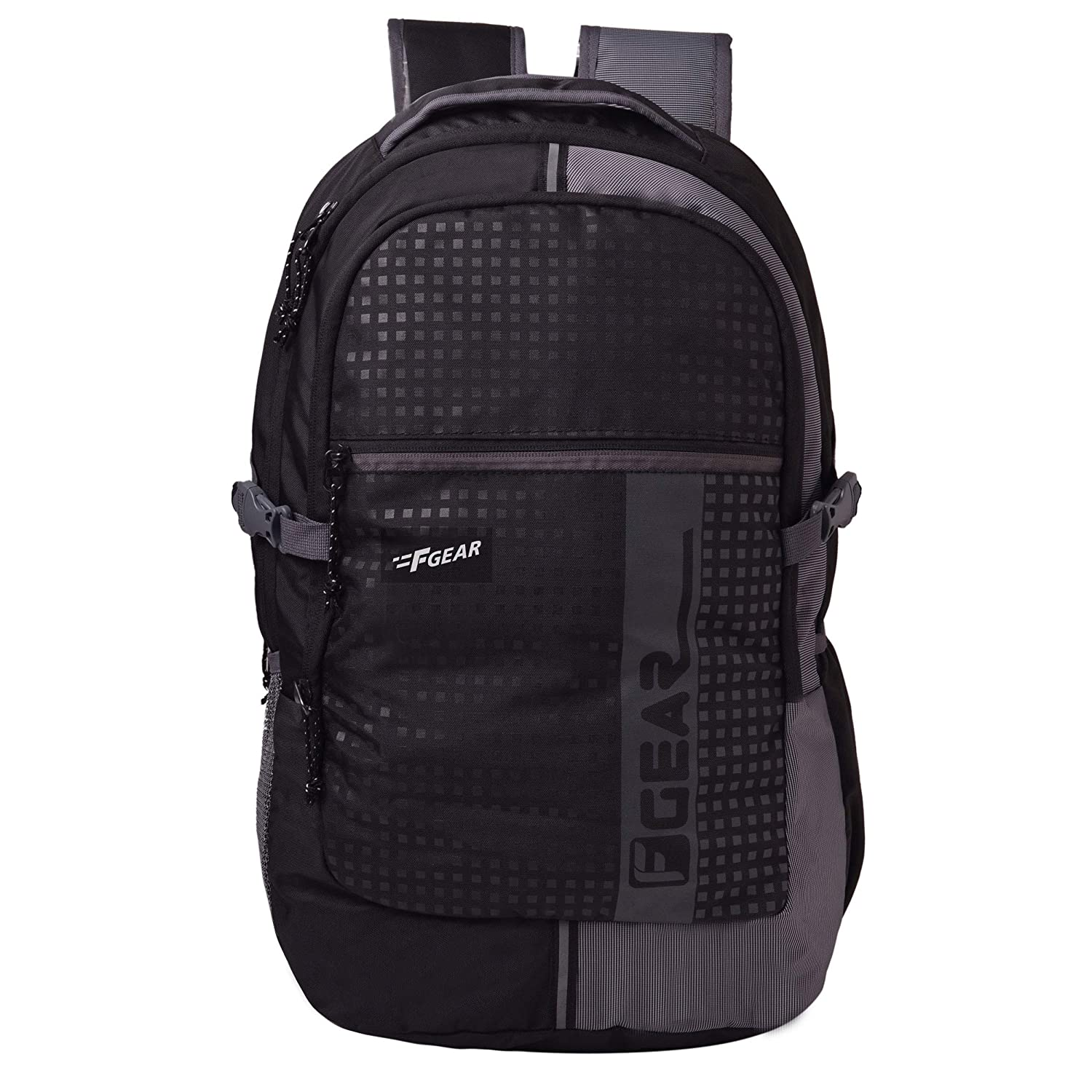 F Gear Blow Laptop Backpack with Rain Cover 32 Liters (Black,Grey) SCH Bag
