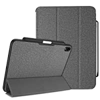 ProCase iPad Pro 11 Case 2018 with Apple Pencil Holder [Support Apple Pencil Charging], Protective Smart Cover Shell Stand Folio Case for Apple iPad Pro 11 Inch 2018 Release –Grey