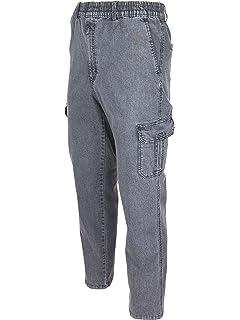 SOUNON® Herren Jeans, Cargojeans, Schlupfhose Schlupfjeans, Stretchjeans 5  Farben Größe M bis e6aaf2b95c