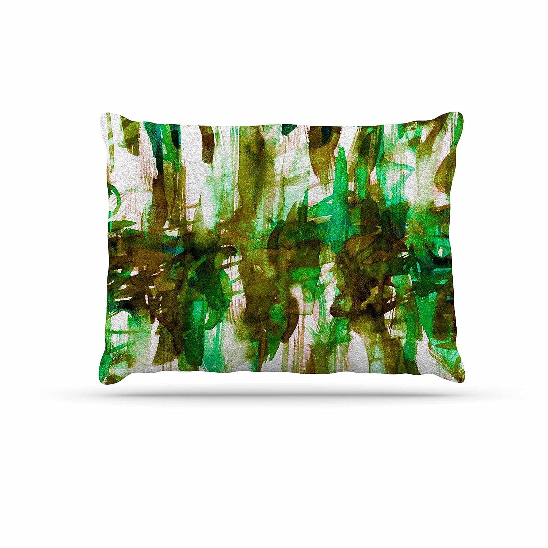 KESS InHouse EBI Emporium White Noise 4  Green Olive Dog Bed, 30  x 40