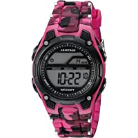 Armitron Sport Women's 456984PNK Digital Chronograph Watch with Textured Resin Strap