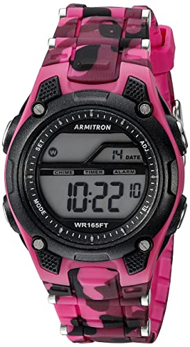 801f8068fe8b Armitron Sport 45 6984 Reloj digital con correa de resina y cronógrafo