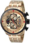Invicta 17205 Watch Men's AVIATOR 18k Gold Ion-Plated