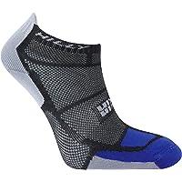 Hilly Men's Twin Skin Socklet Running Socks-White/Electric Blue/Black, Medium