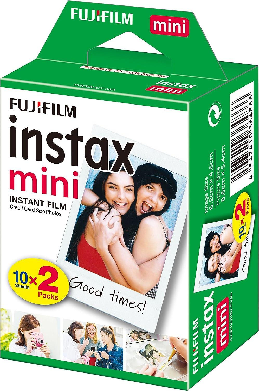 Fujifilm Instax Mini Brillo - Pack de 100 películas fotográficas ...