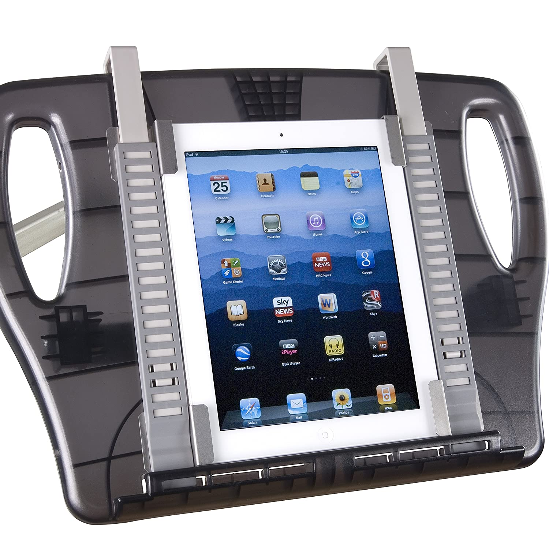 Atril Ergonómico móvil con brazo articulado ☆ Soporte de pie universal para Libros, iPad, Tablets, ordenadores portátiles, libros electrónicos ☆ Manos ...